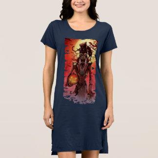 Robe du T-shirt des femmes de Halloween