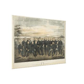 Robert E. Lee u. seine zivilen Galerie Falt Leinwand