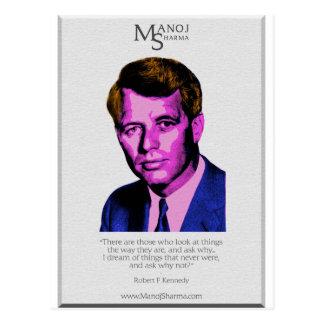 Robert Kennedy - Manoj Sharma Postkarte