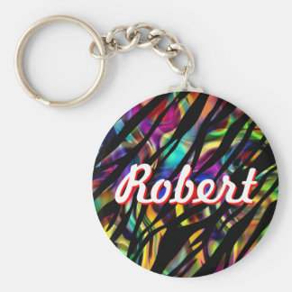Robert personalisiertes buntes Keychain Schlüsselanhänger