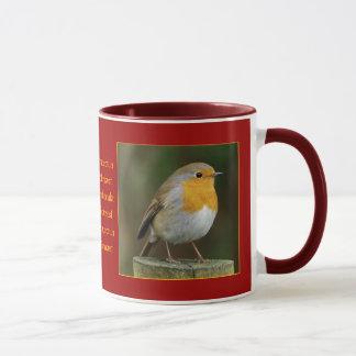 Robin auf Posten-Tasse Tasse