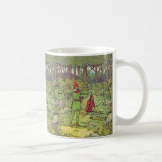 Robin Hood im Wald Kaffeetasse