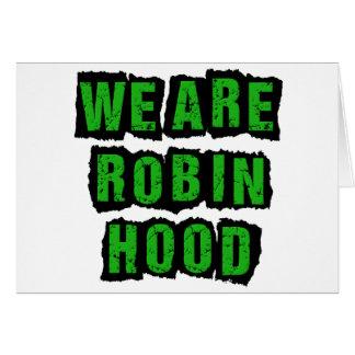 Robin Hood Party -- Relative Feuchtigkeit war rech Grußkarte