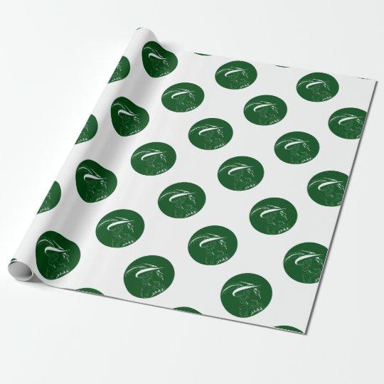 Robin Hood Seitenprofil-Kreis-Holzschnitt Einpackpapier