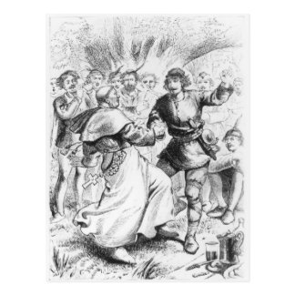 Robin Hood und der Bischof Postkarte