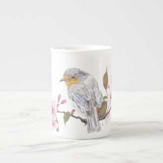 Robin-Kunstentwurfs-China-Tasse Prozellantasse