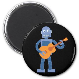 Robot de guitare magnet rond 8 cm