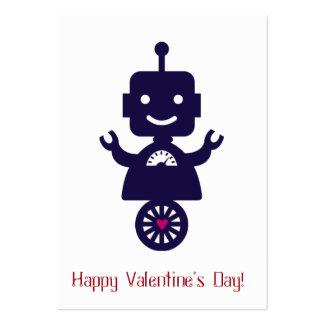 Robot Valentine - scooter Carte De Visite Grand Format