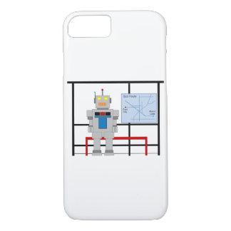 Roboter an einer Bushaltestelle iPhone 7 Hülle
