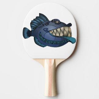 """""""Roboter-blaue"""" Fische mit Haltung Tischtennis Schläger"""