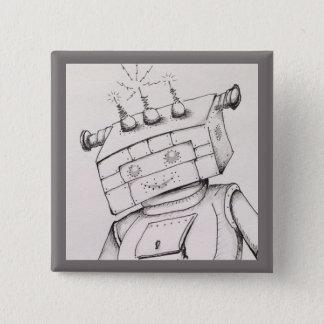 Roboter, der Detail, 2-Zoll-Button zeichnet Quadratischer Button 5,1 Cm
