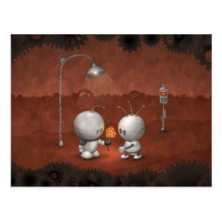 Roboter in der Liebe Postkarte