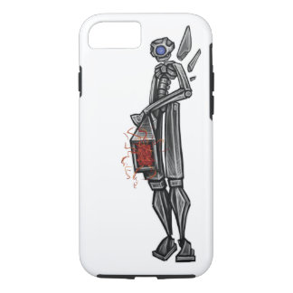 Roboter-Mech Artillerist-Geeky Skizze vorbei: Adam iPhone 8/7 Hülle