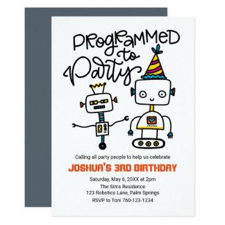 Roboter, programmiert zum Party Karte