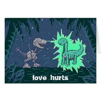Roboterdino-Liebe Grußkarte