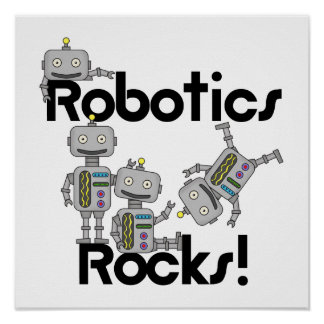 Robotik-Felsen Poster