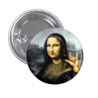 roche dessus badge avec épingle