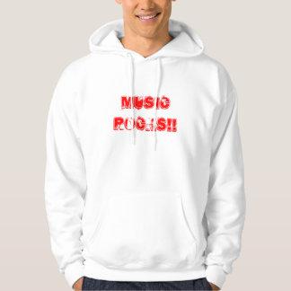 Roches de musique ! ! sweatshirt à capuche