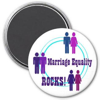ROCHES d'égalité de mariage ! Magnet Rond 7,50 Cm