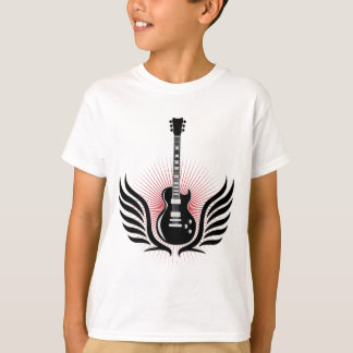rock and roll electric guitar wings T-Shirt
