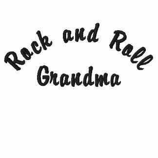 Rock-and-Roll, Großmutter Bestickter Damen Reißverschluss Hoodie