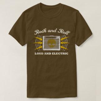 Rock-and-Roll: Laut und elektrisch. Beunruhigtes T-Shirt
