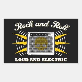Rock-and-Roll: Laut und elektrisch Rechteckiger Aufkleber