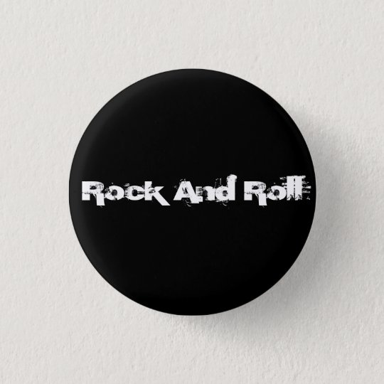 Rock-and-Roll Runder Button 3,2 Cm
