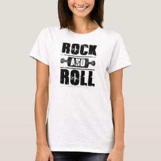 Rock-and-Rollbacken-Shirt - schwarzer Druck T-Shirt