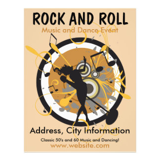 Rock-and-Rollmusik-Flyer 21,6 X 27,9 Cm Flyer