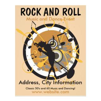 Rock-and-Rollmusik-Flyer 21,6 X 27,9 Cm Flyer