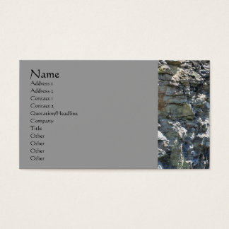 Rock Quarry Wall Nature Photography Business Card Visitenkarten