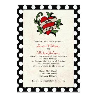 Rockabilly Hochzeit 12,7 X 17,8 Cm Einladungskarte