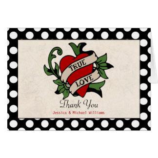 Rockabilly Hochzeit danken Ihnen Mitteilungskarte