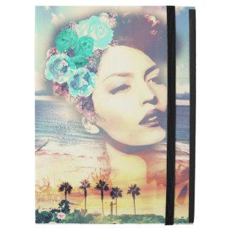 Rockabilly Kalifornien-Palmen-Küstensommer-Frau