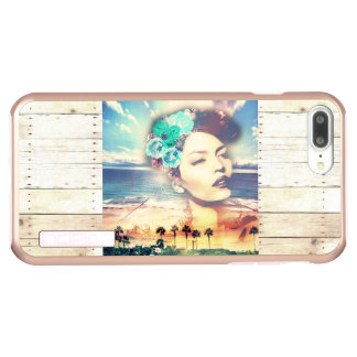 Rockabilly Kalifornien-Palmen-Küstensommer-Frau Incipio DualPro Shine iPhone 8 Plus/7 Plus Hülle