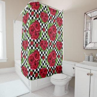 Rockabilly Rosen-Blumenstrauß-BlumenLiebe Duschvorhang