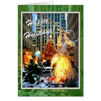Rockefellermittelweihnachtsbaum-Gruß-Karten Grußkarte