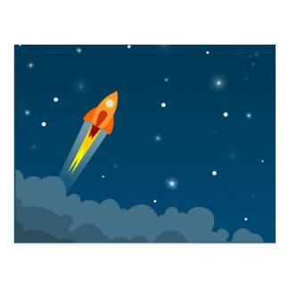 Rocket, das Postkarte zeichnet