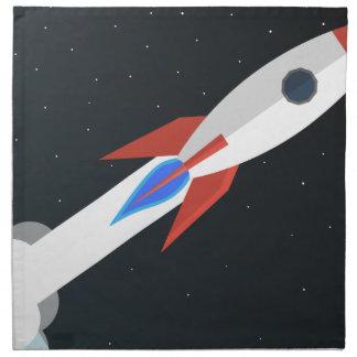 Rocket, das weg startet serviette