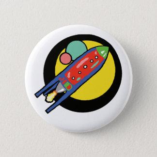 """Rocket-Schiff 2,4"""" runder Knopf Runder Button 5,7 Cm"""