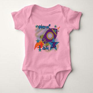Rocket-Schiffs-3. Geburtstags-T - Shirts und