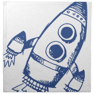 Rocket-Schiffs-Zeichnen Stoffserviette