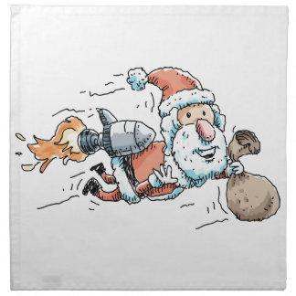 Rocket Weihnachtsmann Serviette