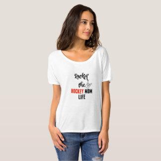 Rockin der Hockey-Mamma-Leben-Slouchy T - Shirt