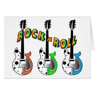 Rock'n'Roll-elektrische Gitarren-Neonmusik Karte