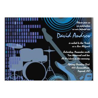 Rock'n'Roll-musikalische Bar-Schläger Mitzvah Karte