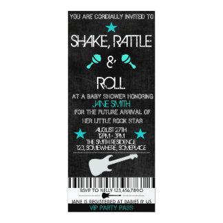 Rockstar-Babyparty 10,2 X 23,5 Cm Einladungskarte