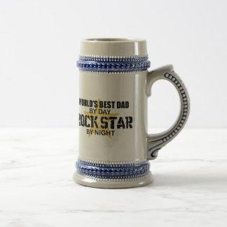 Rockstar bis zum Nacht - der beste Vati der Welt Bierglas