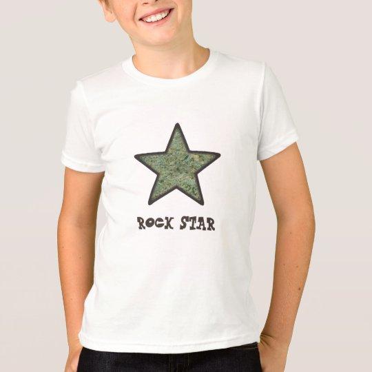 Rockstar-Rock-Beschaffenheit mit T-Shirt